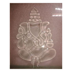 Transparent Ganesha Statue Glass