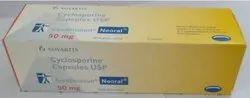 Sandimmun Neoral Cyclosporine Capsules USP 50 mg, Novartis