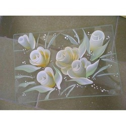 Floral Printed Glass