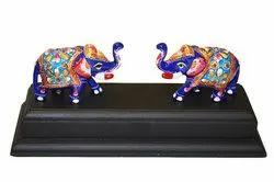Multi Multicolor Meenakari Elephant, for Interior Decor, Size/Dimension: 5 Inchs