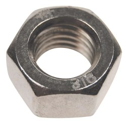 Chrome Plated Stainless Steel High Tensile Hex Nut, Size: 12 mm