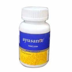Ayusante Toxclean Capsule, Packaging Type: Plastic Bottle, 60 Capsule