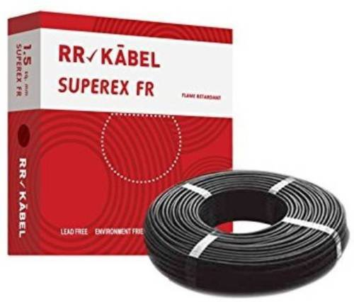 RR Kabel PVC Insulated 1.0 Sq/mm Black 90 M Wire, Thickness: 1.0 Sqmm