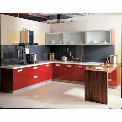 8 X 12 Lacquered Modular Kitchen