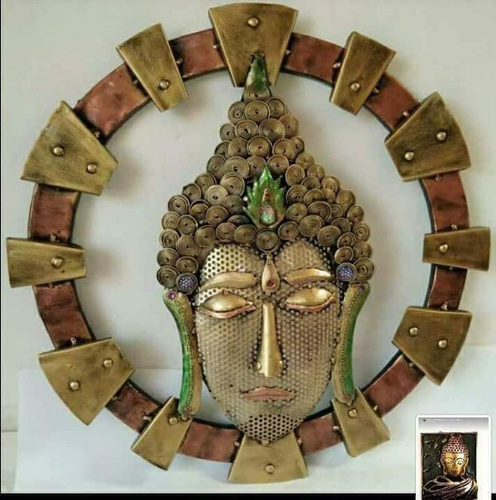 Buddha Iron Wall Mount Handicrafts IHK13023