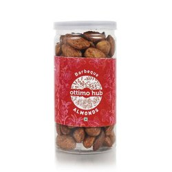 Ottimo Hub Barbeque Almonds, Packaging Type: Plastic Jar, Packaging Size: 125 Grams