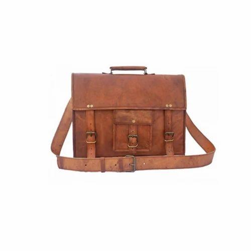 f5544e624851 Brown Pranjals House Designer Leather Laptop Bag