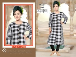 Rayon Cotton Pattern Kurti