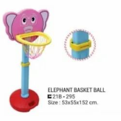 3-7 Years Multicolor Elephant Basket Ball, For Pre School Nd Home Use, Size: 53x55x152 Cm