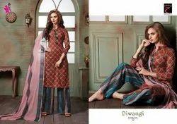 Khushika Printed Unstitched Salwar Suit