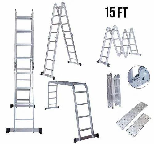 Equal Aluminium Multipurpose Ladder with Stainless Steel Platform