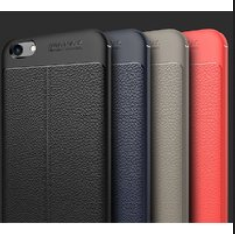 newest c4a23 d3211 Redmi Y1 Lite Back Cover Luxury Leather Look Soft Autofocus Case