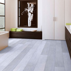 Silver Laminated Wooden Flooring