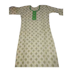 Ladies Cotton Printed Full Sleeve Kurti, Size: S - XL