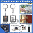 Photo Frame Keychain Metal