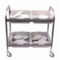 Stainless Steel And Stainless Steel Dish Trolley