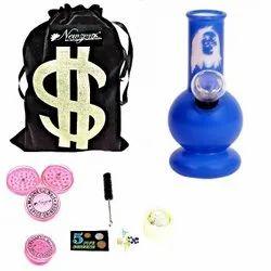 Newzenx Bong Glass Mini Bong Blue BOB Morley Bong Full Kit Set 5 Inches Full Accessories