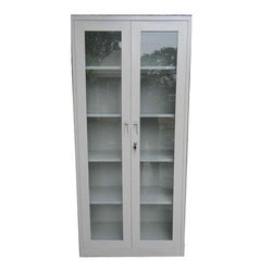 Jap Enterprises MS Glass Door Almirah, For Office, Size/Dimension: 72x48x12 Inch