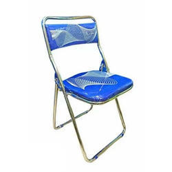 Blue Chrome Plating Folding Chair, For Event