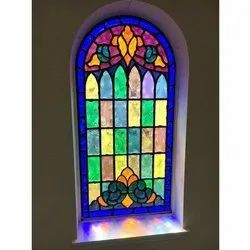Printed Designer Stained Window Glass, Thickness: 5 - 10 Mm