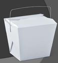 White Wire Handle Paper Food Box