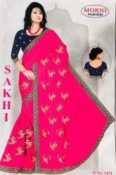 Sana Silk Sarees With Embroidery