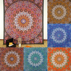 Cotton Start Mandala Hippie Indian Wall Hanging Mandala Printed Throw Cover Bed Sheet
