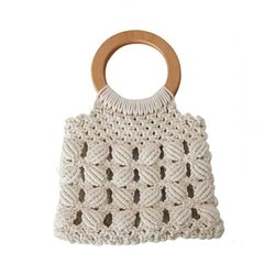 Simple Design Macrame Ladies Handbags