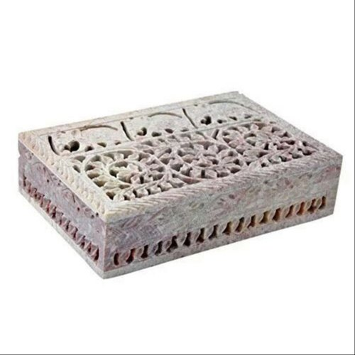 A to Z Handicrafts Marble Rectangular Jewelry Box, Packaging Type: Carton Box