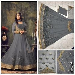 Round Georgette Heavy Net With Embroidery Work Salwar Suit