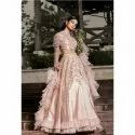 Ladies Full Handwork Ruffle Lehenga Choli