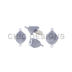 Pave Diamond Lock Bead Finding