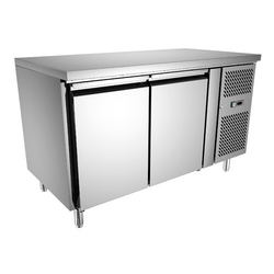 Mj Stainless Steel Double Door Under Counter Refrigerator, Capacity: 500 L