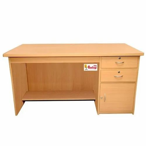 2 Drawer Rectangular Wooden Office Table