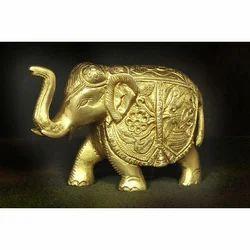 Brass Elephant Statue, For Interior Decor