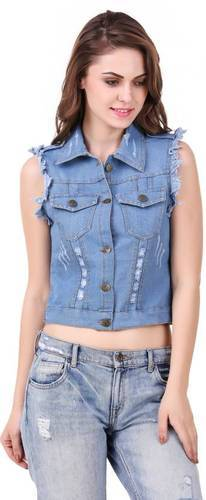 b7eee7b3f47 Ladies Stylish Denim Summer Jacket