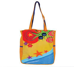 Beach Print Small Sized Bag