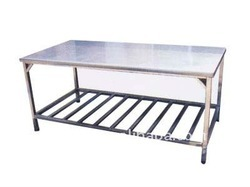 Polished Silver Ms Working Table, For Commercial, Size: 6x3 Feet