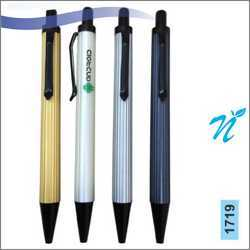 Plastic Pearl Coloured Pen with Black Parts