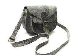Natural Grain Leather Sling Bag