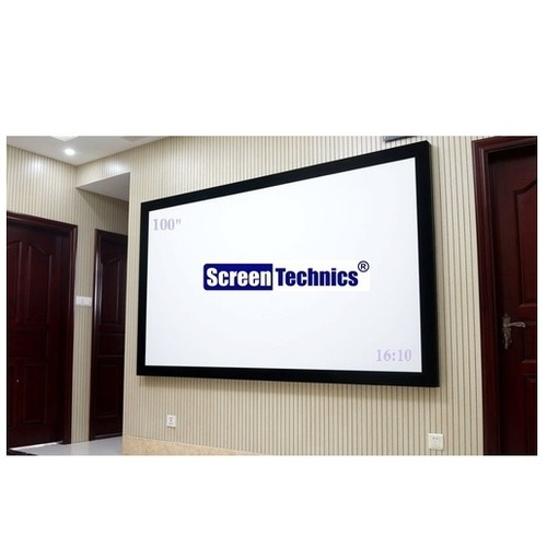 100 Inch Fixed Frame Projector Screen, Projection Screens - Shree ...
