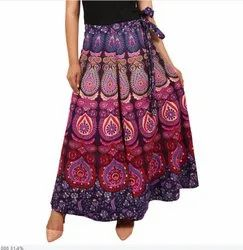 Indian Mandala Print Skirt