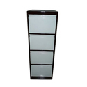 White And Black Stainless Steel Vertical Office Cabinet