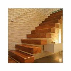 Wooden Brown Stair Case Treads
