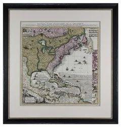 Antique Framed World Maps