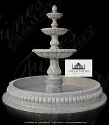 Marble Water Fountain With Pond