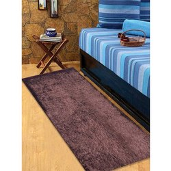 Polyester And Cotton Cosmorugs Brown Bed Runner, Size: 2x5 Feet