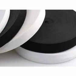 White and Black Plain Knitted Elastic, Size: 0.4-50 cm