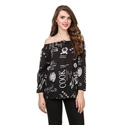 Party Printed Women Off Shoulder Top