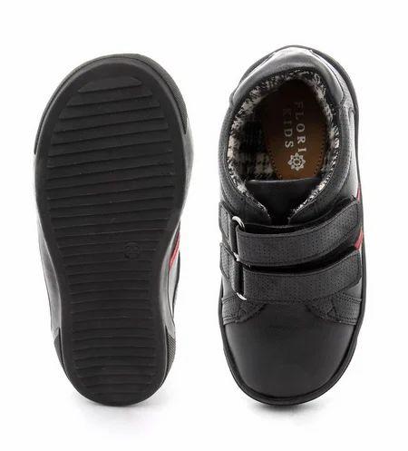 Black Double Velcro Shoes For Boys 906cf405abc1